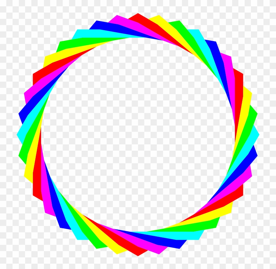 Rainbow Circle Clip Art.