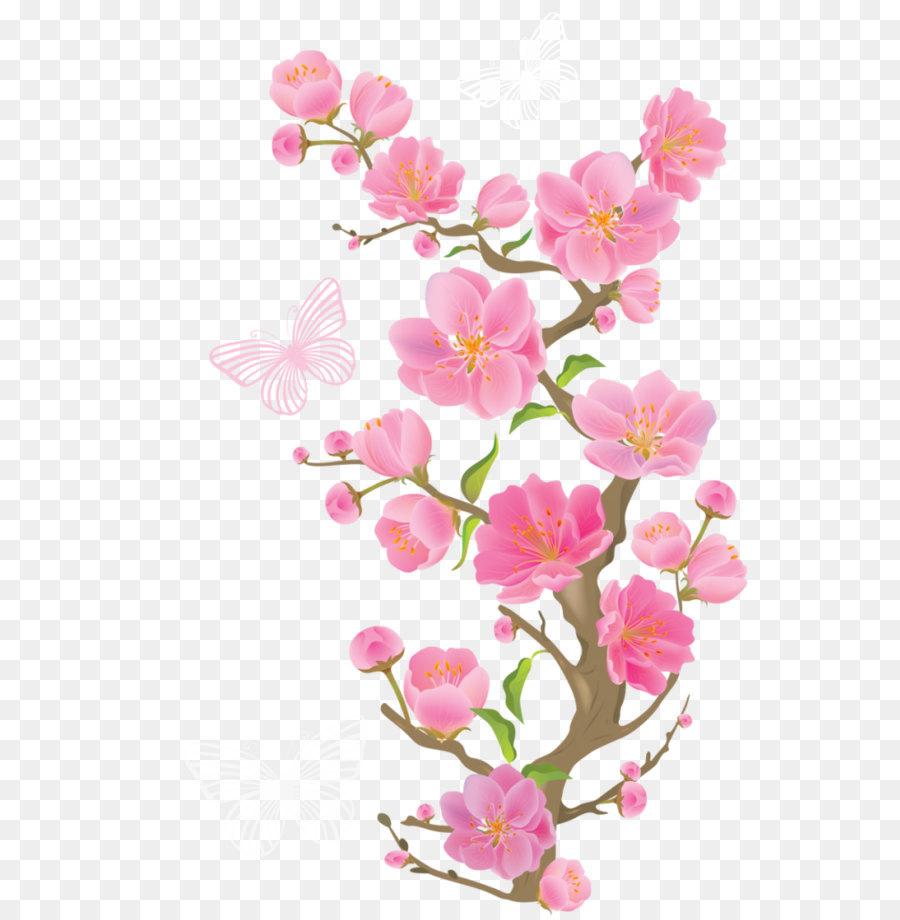 Pink Flowers Clip Art.