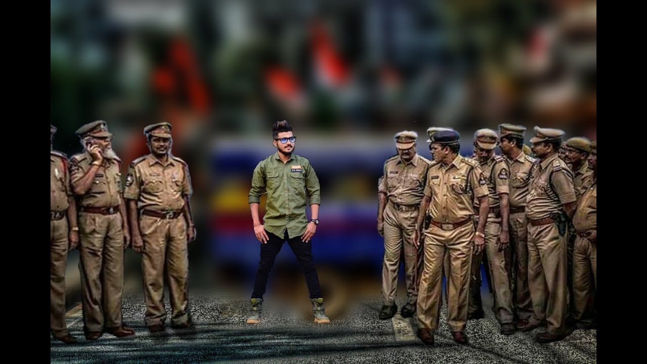 police protection photo editing in picsart.
