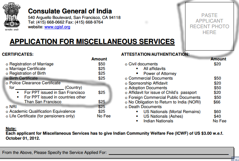 Question about Indian Embassy PCC and Medical form ?.