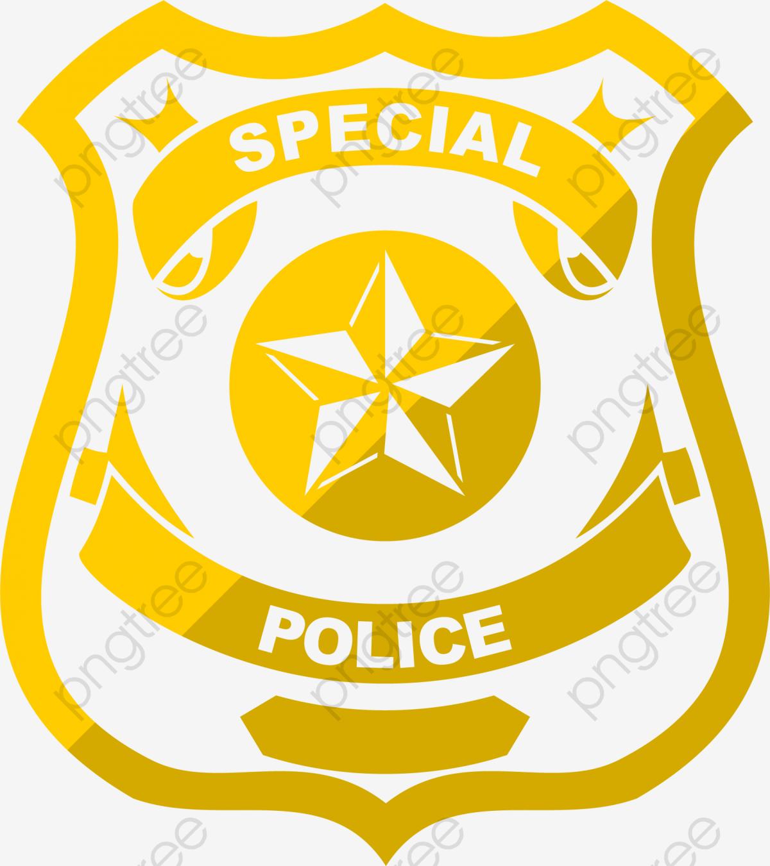 Cartoon Police Badge, Decorative Pattern, Badge, Policemen.