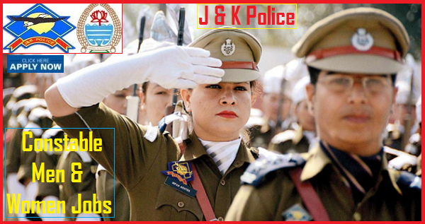 JK POLICE RECRUITMENT 2019 FOR CONSTABLE MALE & FEMALE 2700.
