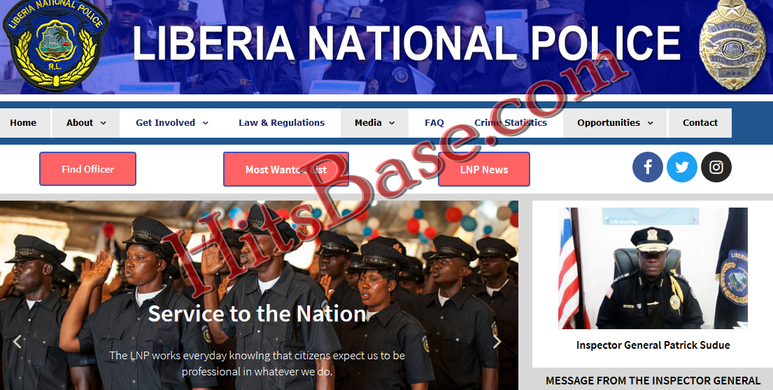 Liberia National Police Recruitment 2019.