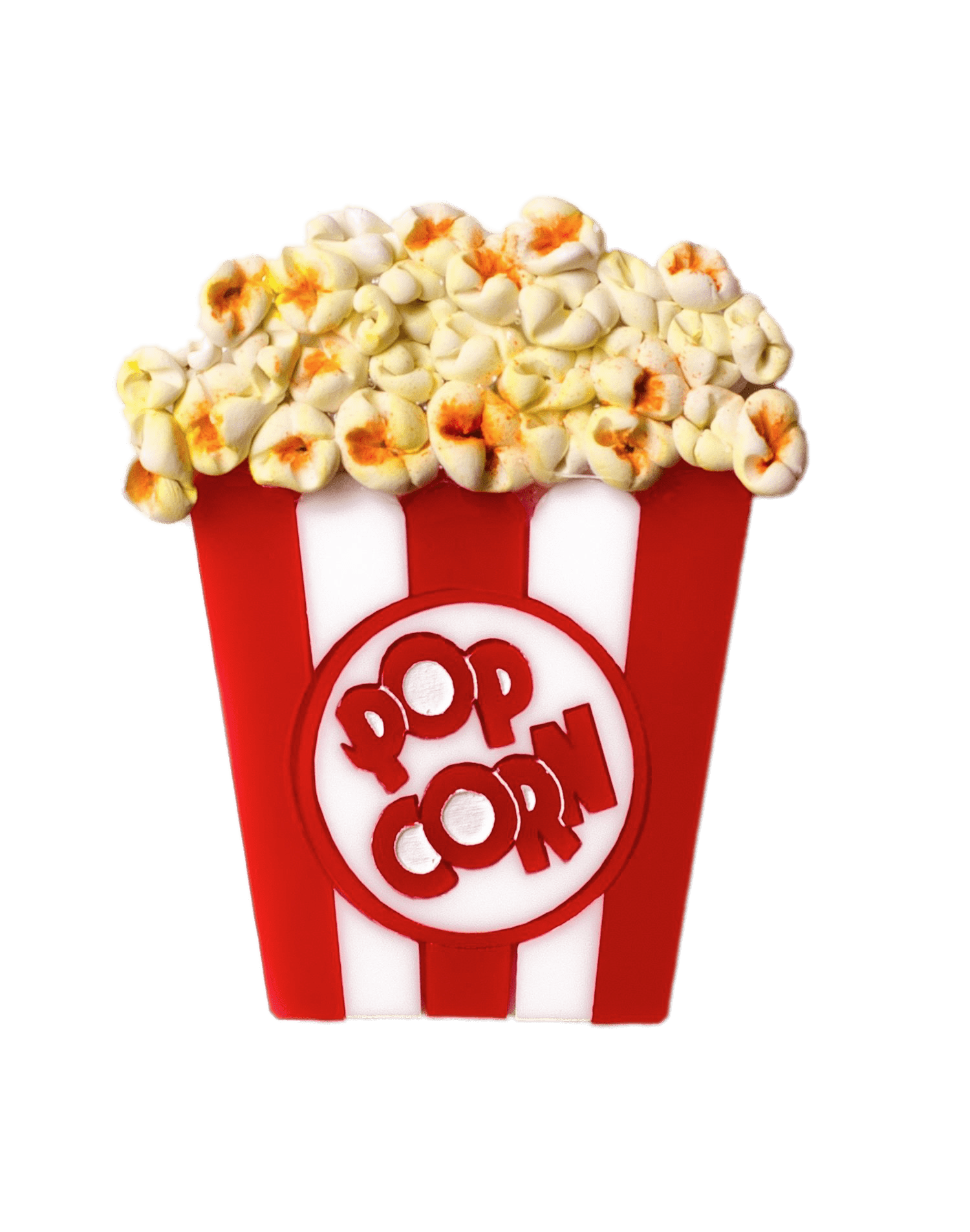 Popcorn Brooch transparent PNG.