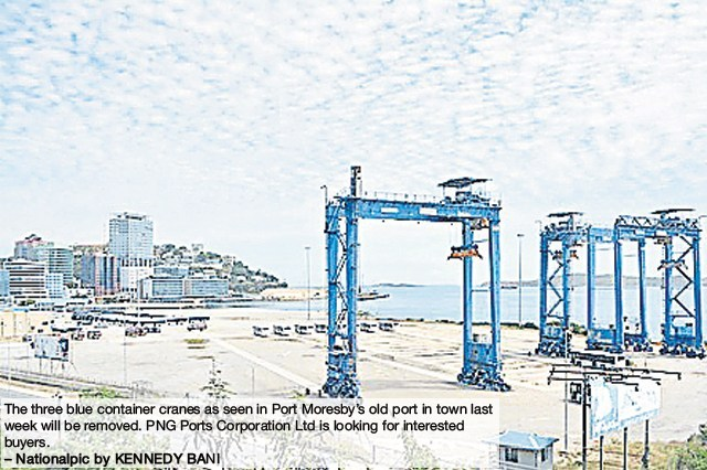 PNG Ports looking at disposing container cranes.