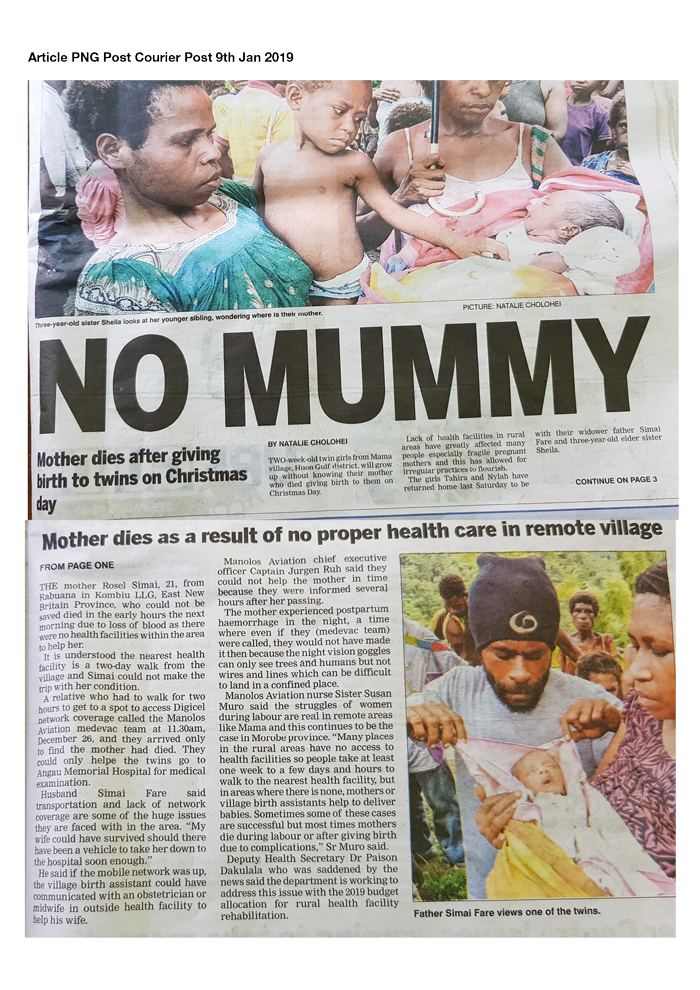 In PNG Post Courier newspaper today….