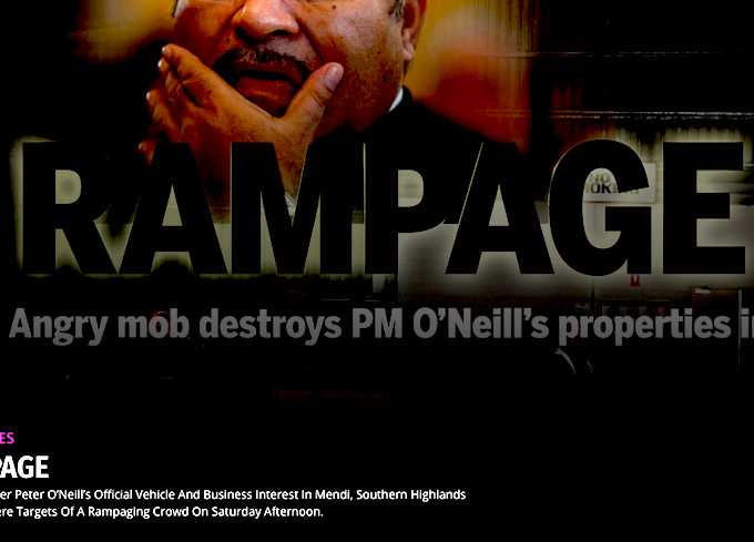 Rampaging mob attacks PM O\'Neill\'s car.