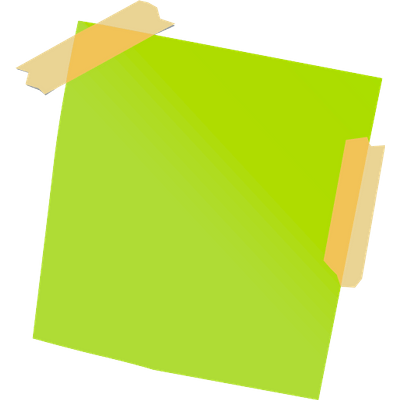 Sticky Notes transparent PNG images.