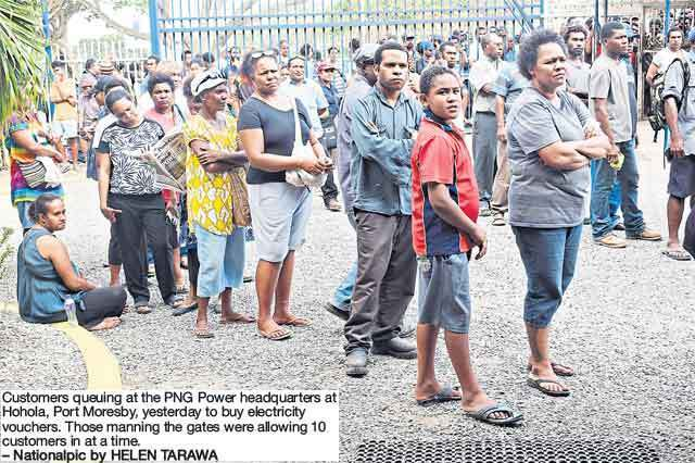 PNG Power reconnects Easipay after blackout.