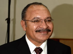 PNG prime minister to co.