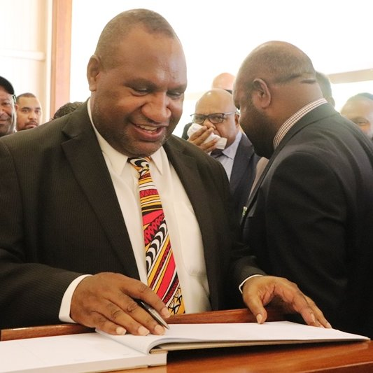 PNG\'s new Prime Minister James Marape (Credit: PNG Prime.