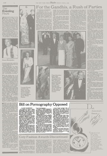 BILL ON PRONOGRAPHY OPPOSED.