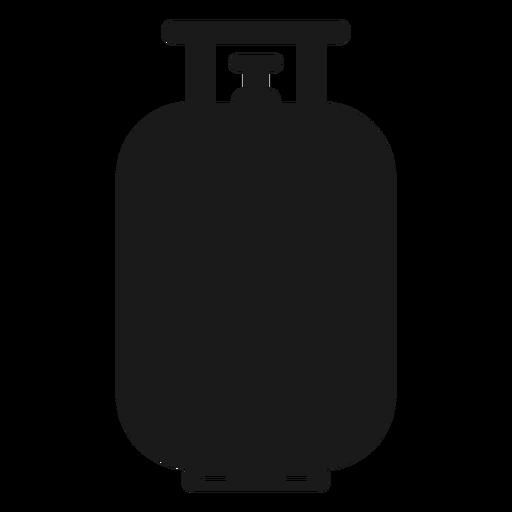 Propane gas tank silhouette.