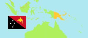 Papua New Guinea: Provinces, Cities & Urban Localities.