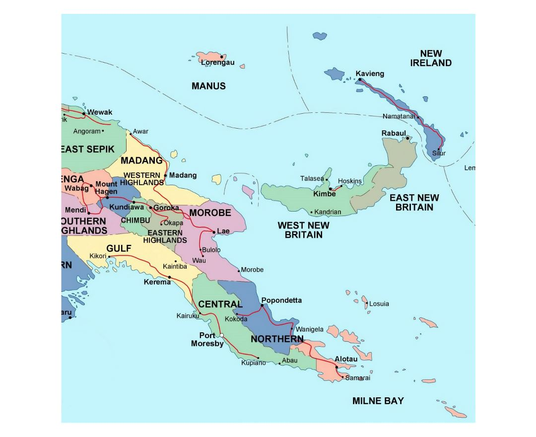 Maps of Papua New Guinea.