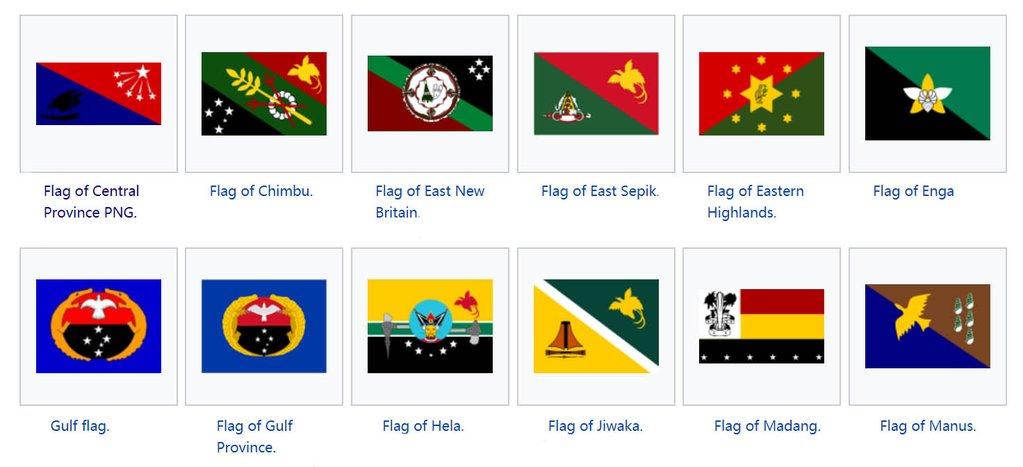 Flags Of Provinces Of Papua New Guinea Custom Jewelry Design.