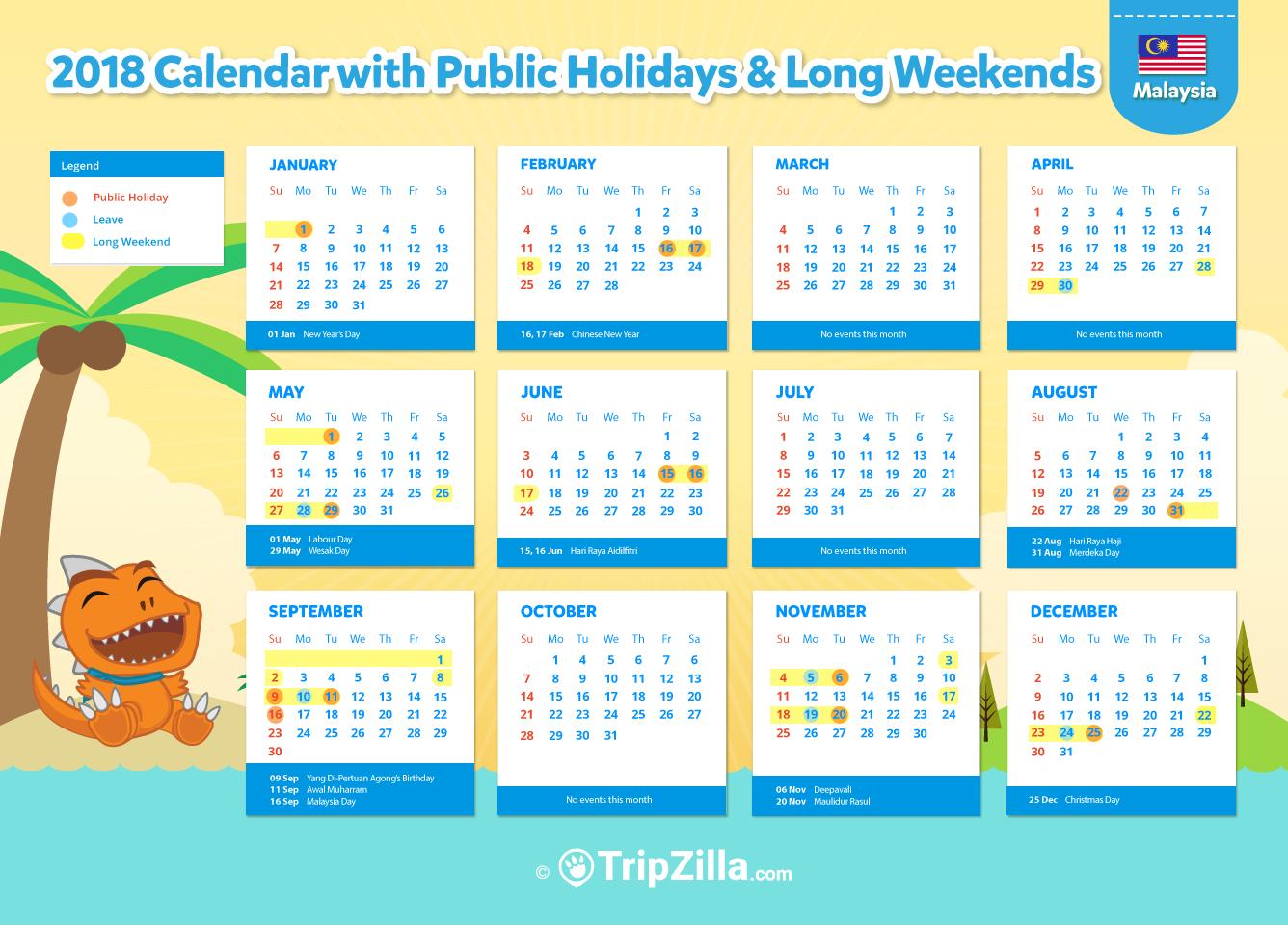 10 Long Weekends in Malaysia in 2018.