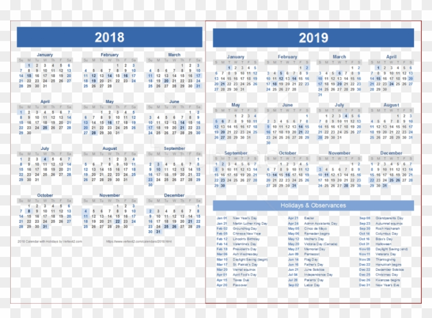 Free Png Download 2018 2019 Calendar Png Wallpaper.