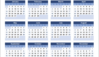 Printable Calendar 2018.