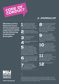 NUJ code of conduct.