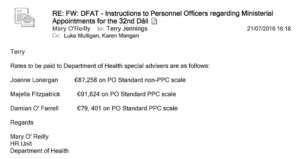 Government changed rules on special adviser pay to allow.