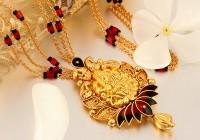 Gold mangalsutra Designs.