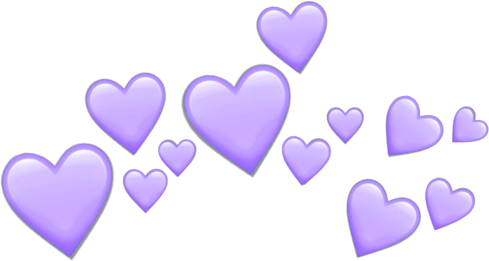 Purple Hearts Heart Purpleheart Crown Tumblr Emoji.