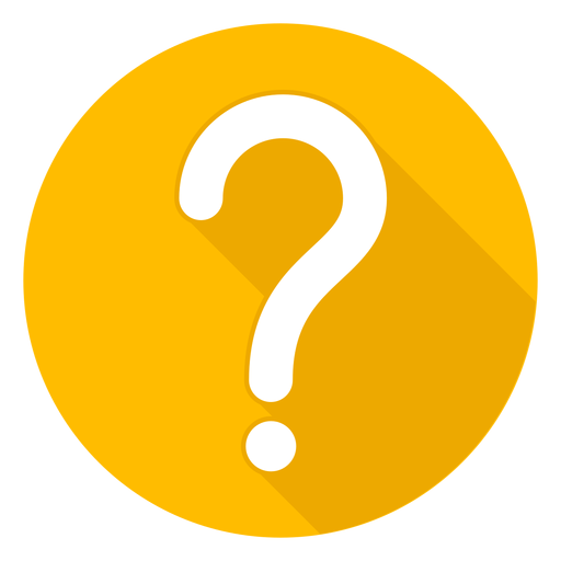 Yellow circle question mark icon.