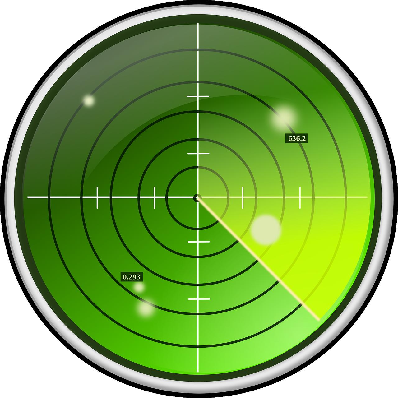 Radar Proximity Approach Enemy PNG.