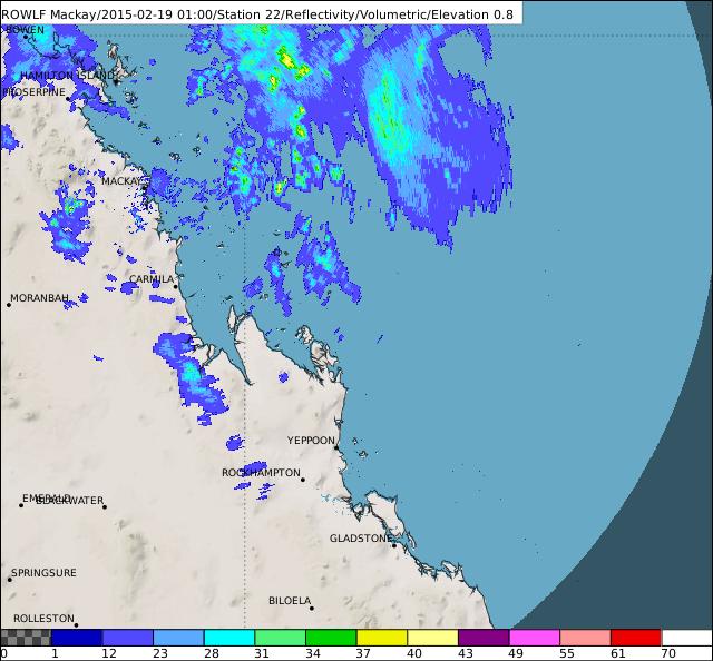Severe Tropical Cyclone Marcia Radar Loop.