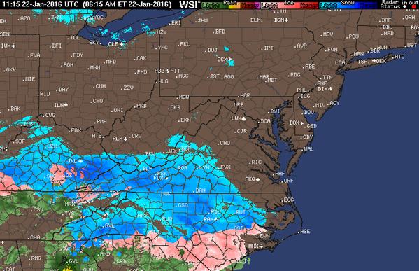anthonywx: Radar loop of this historic blizzard from start.