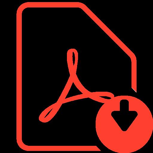 File, Pdf, Download, Acrobat, Adobe, Reader Icon of Glyph.