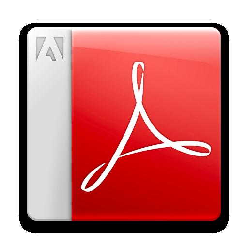 Acrobat reader, adobe, pdf icon.