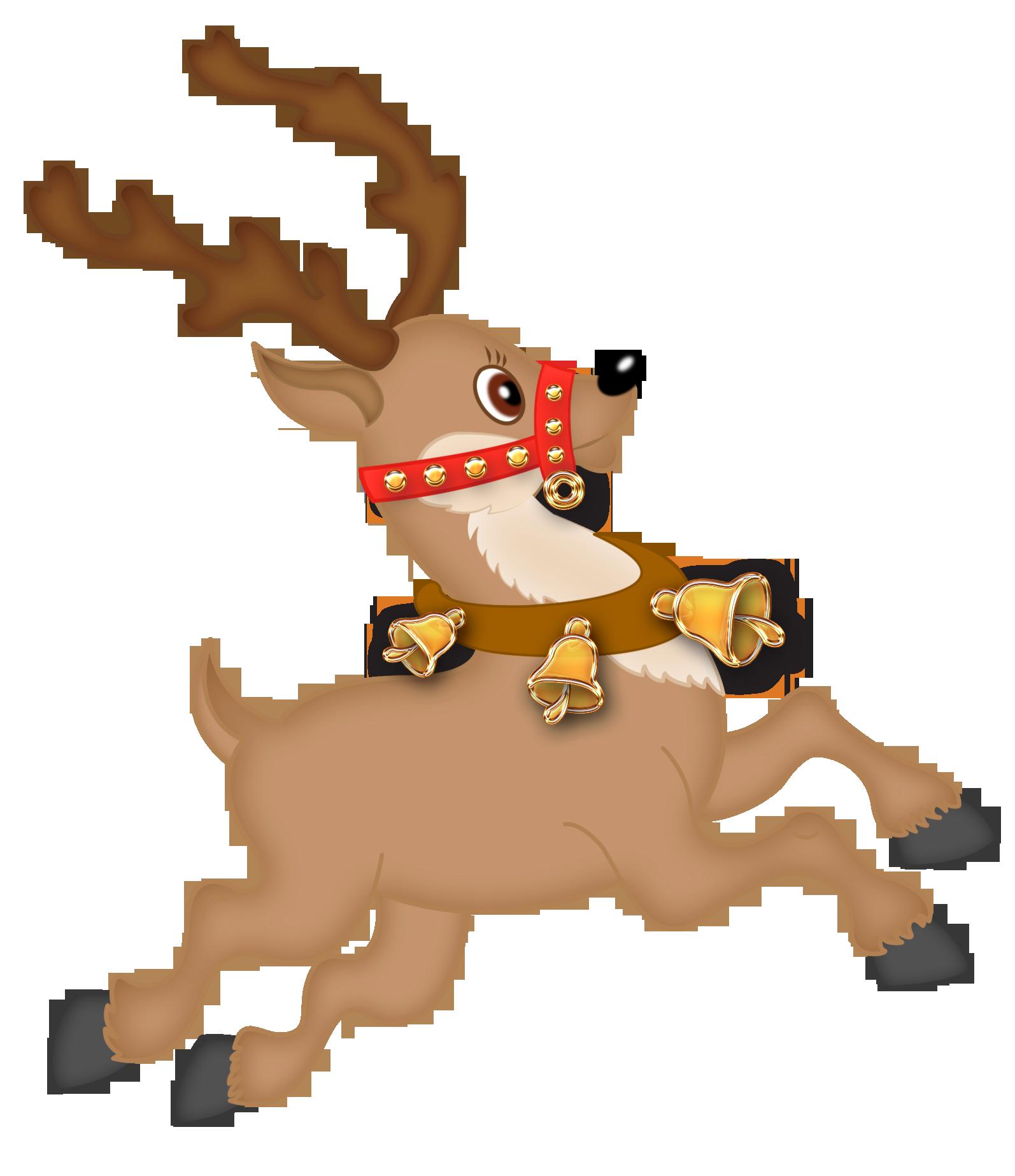 Cute Reindeer PNG Clipart.