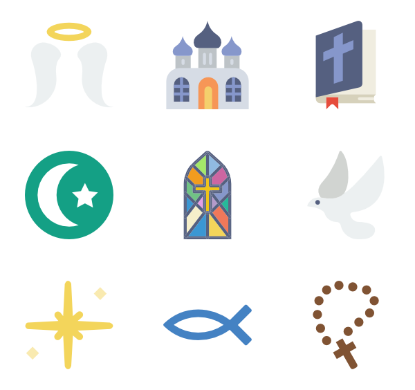 190 religion icon packs.