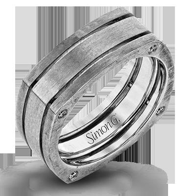 LG168 MEN RING Platinum White.