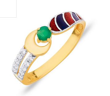 Png Ang0046190 Ella Cloisonne Enamelled Gold Ring.