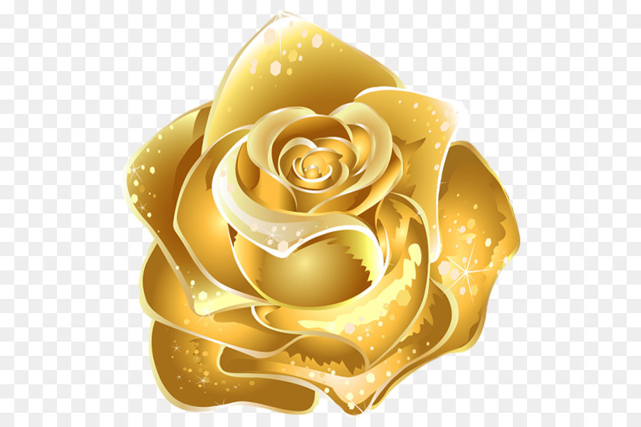 Rose Gold Flower png download.