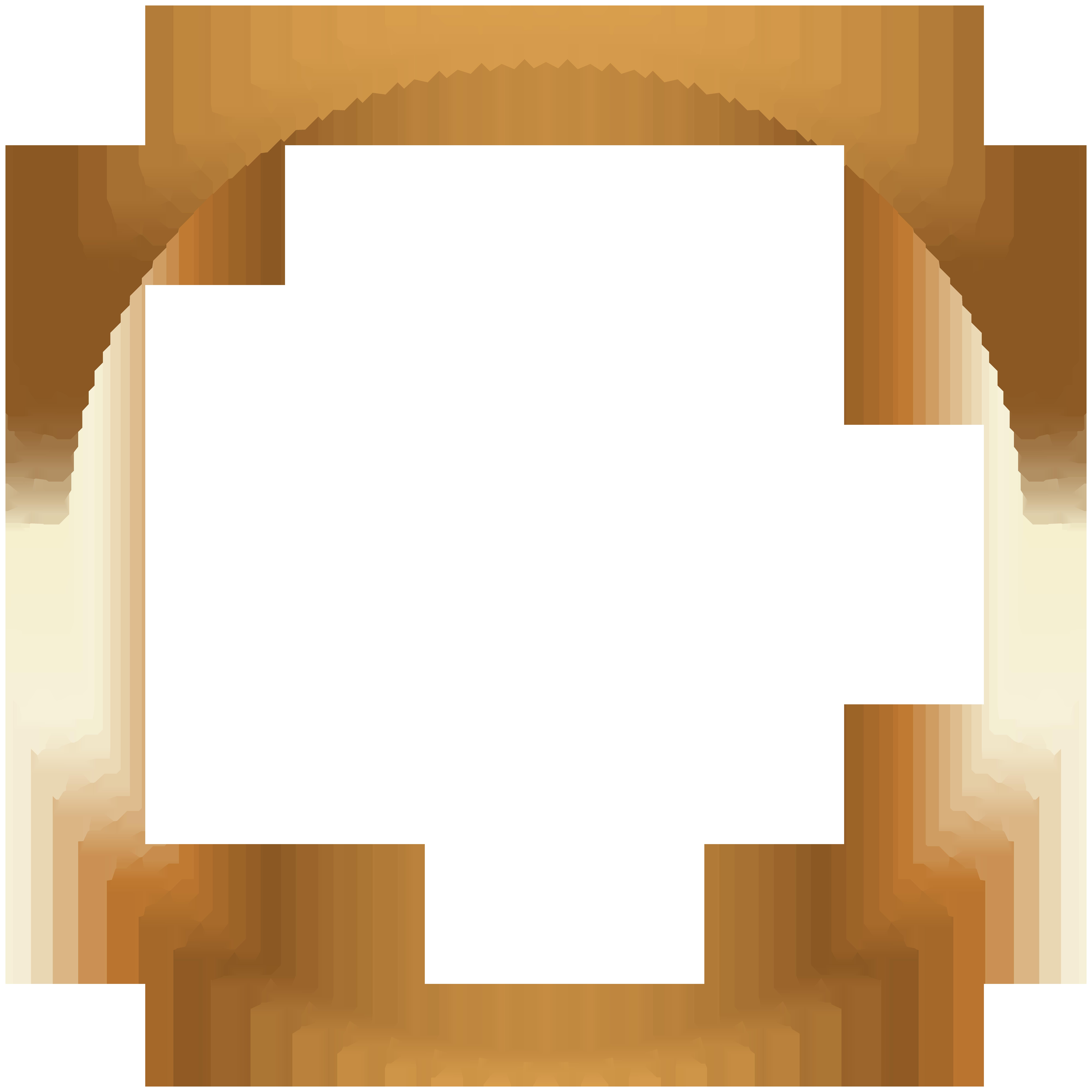 Stars PNG Round Border Frame.