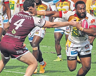 Rugby league rising: the Papua New Guinea Hunters.