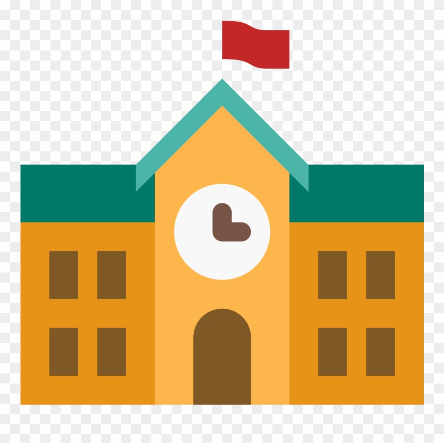 School Building Icon Images.