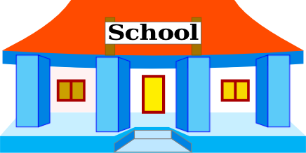 school building colorful.