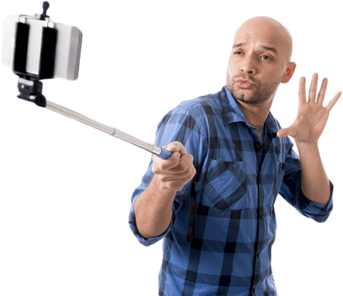 Selfie stick with man png #35855.