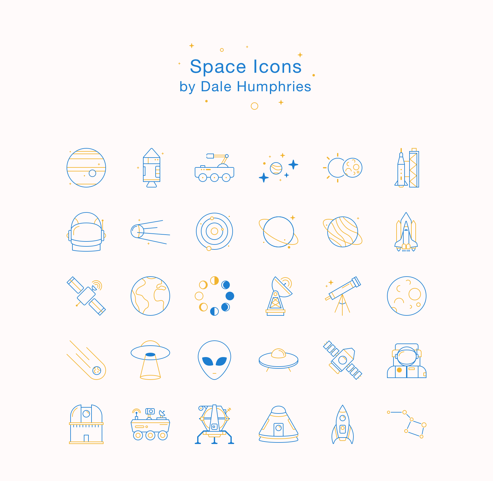 Freebie: Astronomy & Space Icons (AI, Sketch, SVG, PNG.