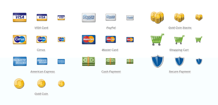 15 Free Payment Method & Credit Card Icon Sets.