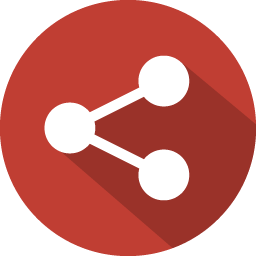 Red share icon #40120.