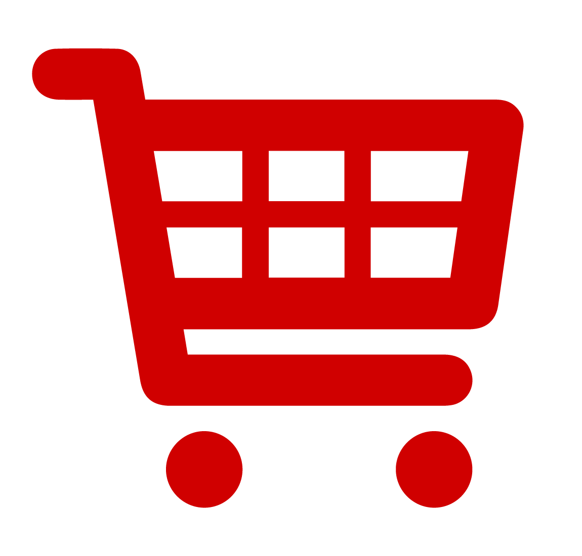 Red simple shopping cart icon #29081.