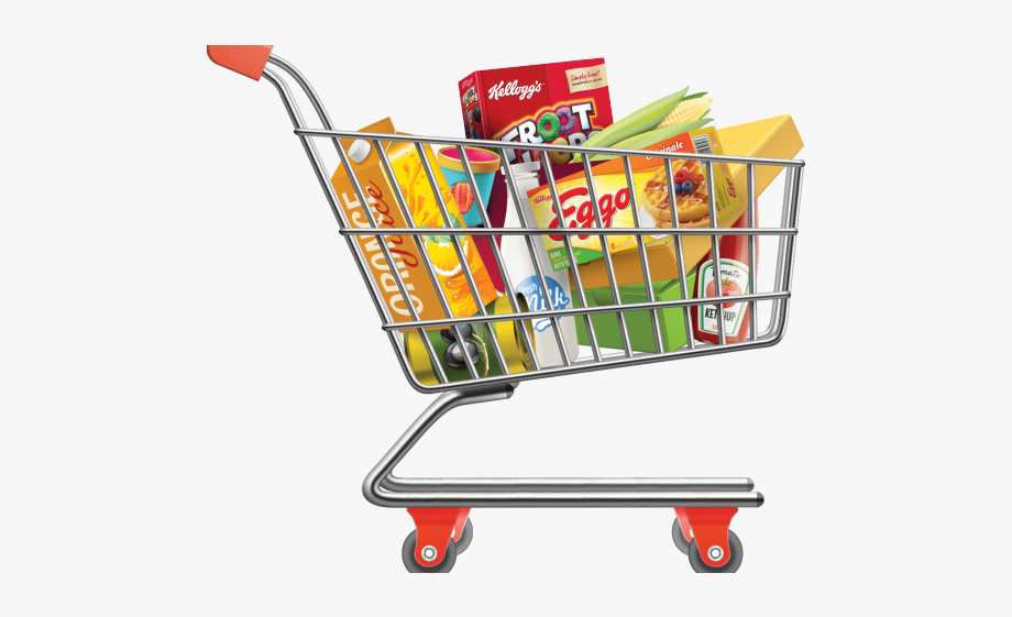 Cart Clipart Grocery Bag.