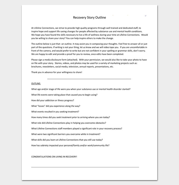 Story Outline Example (PDF).