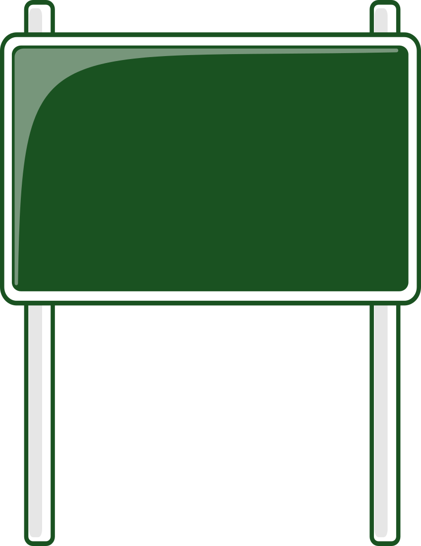 road sign green.